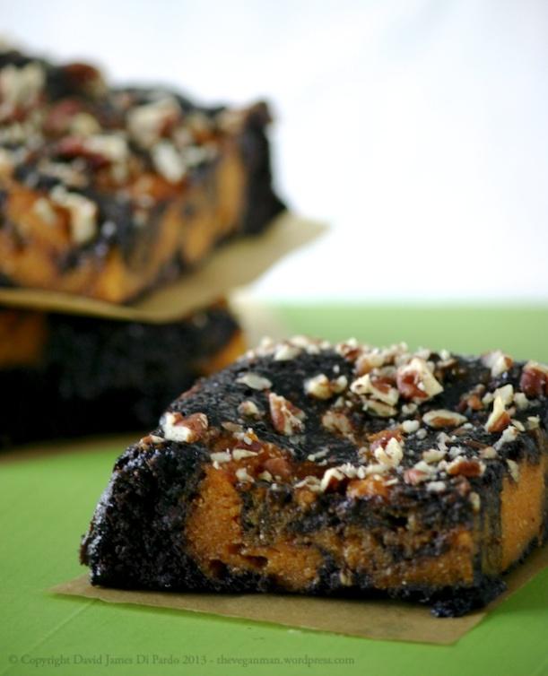 Pumpkin Swirl Brownies GF
